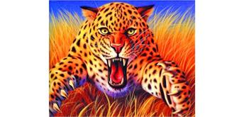 Diamond Painting Set GM1057 Leopard 50 x 40 cm