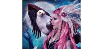 Diamond Painting Set GM560 Eagle Girl 50 x 40 cm