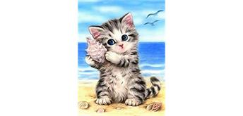 Diamond Painting Set Q041 Kitten 20 x 30 cm