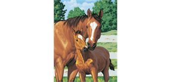 Diamond Painting Set Q076 Horses 20 x 30 cm