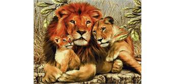 Diamond Painting Set Q102 Lion with Cubs 20 x 30 cm