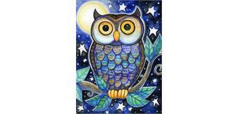 Diamond Painting Set Q135 Owl 20 x 30 cm