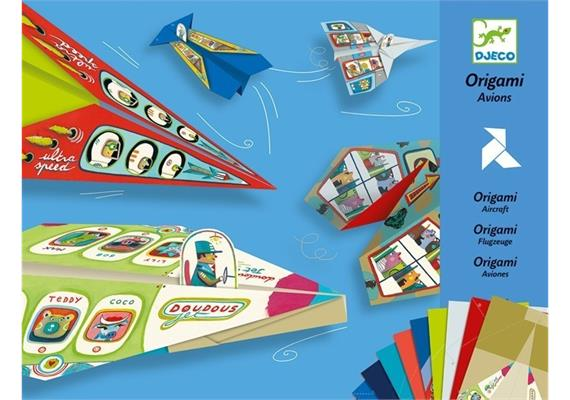 Djeco 08760 Origami Flugzeuge blau