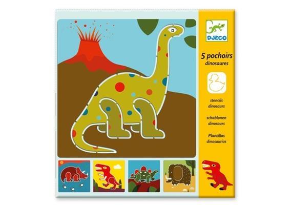 Djeco 08863 Schablonen Dinosaurier