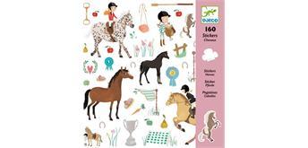 Djeco 08881 - Sticker Pferde