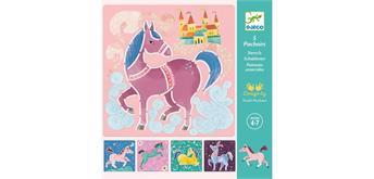 Djeco 08915 - Schablonen Pferde