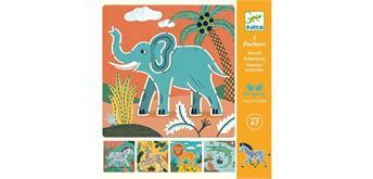Djeco 08916 - Schablonen Wild Animals