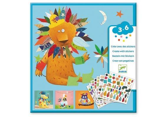 Djeco 08932 Sticker und Basteln Tiere