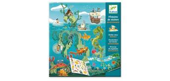 Djeco 08953 Geschichten mit Sticker Meeresabenteuer