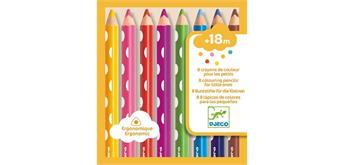 Djeco 09004 - 8 Farbstifte für die Kleinen