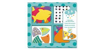 Djeco 09052 Stickerbilder Fische