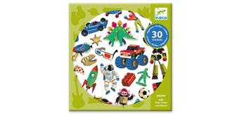 Djeco 09263 30 Sticker Retro toys