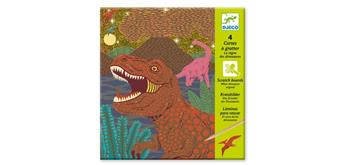 Djeco 09726 Scratchbilder Dinosaurier