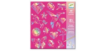 Djeco 09736 Holographic Scratchsticker Diamant