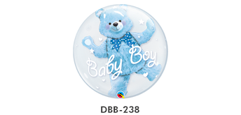 Double Bubble Ø 45 cm, Baby Boy Blue Teddy Bear, ohne Füllung