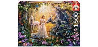 Educa 17696 - Dragon, Princess and Unicorn 1500 Teile