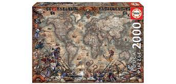 Educa 18008 - Pirates Map 2000 Teile