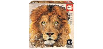 Educa 18653 - Shape Puzzle face of Lion 375 Teile