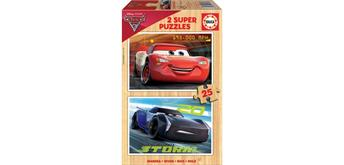 Educa Holzpuzzle 17173 - Cars 3 - 2 x 25 Teile