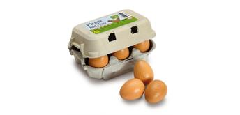 Erzi 17011 - Eier braun im Karton