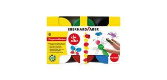 Faber - Fingermalfarben 6 x 40 ml