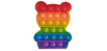 Fidget Game - Pop it Bear - Rainbow