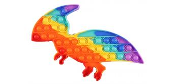 Fidget Game - Pop it Dino XL Rainbow 30 x 18 cm