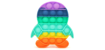 Fidget Game - Pop it Penguin - Rainbow