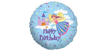 Folienballon Happy Birthday Fairy Princess 46 cm