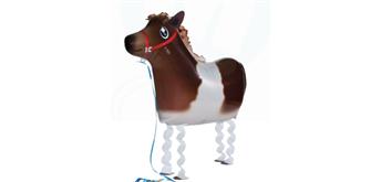 Folienballon Mini-Walker Pony 63 cm lang ohne Füllung