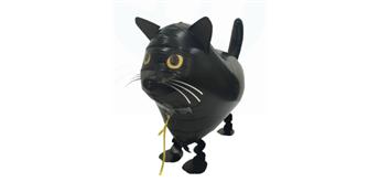 Folienballon Mini-Walker Schwarze Katze 57 cm lang ohne Füllung