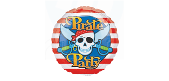 Folienballon Pirate Party Ø 38 cm ohne Füllung
