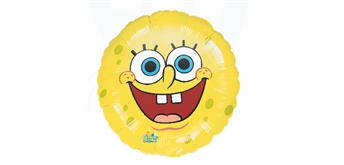 Folienballon Spongebob rund Ø 38 cm ohne Füllung