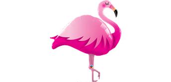 Folienballonfigur Pink Flamingo 117 cm