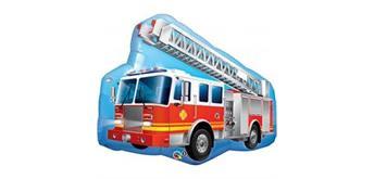 Folienfigur Feuerwehrauto 91 cm