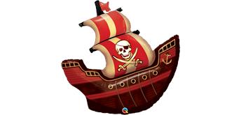 Folienfigur Piratenschiff 102 cm