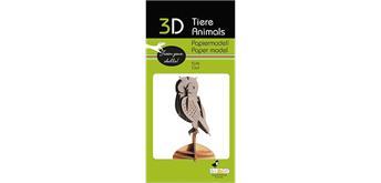 "Fridolin 3-D Papiermodell ""Eule"""