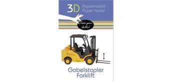 "Fridolin 3-D Papiermodell ""Gabelstapler"""
