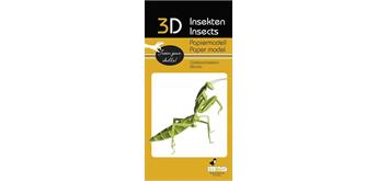 """Fridolin 3-D Papiermodell """"Gottesanbeterin"""""""