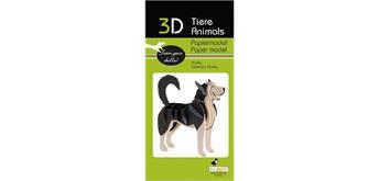 "Fridolin 3-D Papiermodell ""Husky"""