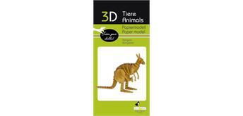 """Fridolin 3-D Papiermodell """"Känguru"""""""