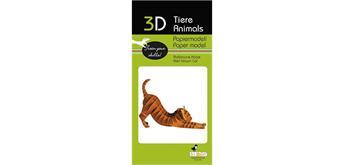 """Fridolin 3-D Papiermodell """"Katze"""""""