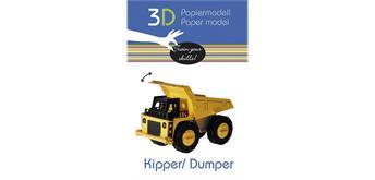 """Fridolin 3-D Papiermodell """"Kipper"""""""