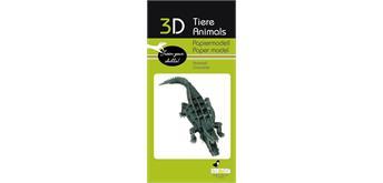 "Fridolin 3-D Papiermodell ""Krokodil"""