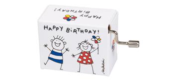 """Fridolin Spieluhr Junge & Mädchen """"Happy Birthday"""""""