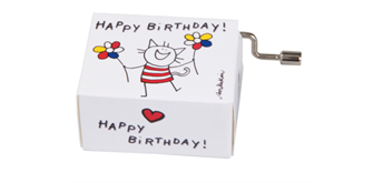 "Fridolin Spieluhr Katze ""Happy Birthday"""