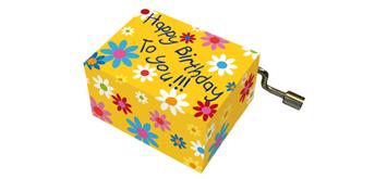 """Fridolin Spieluhr mit Blüten """"Happy Birthday"""""""