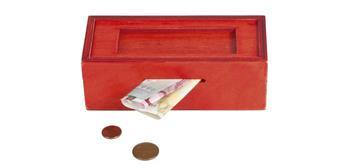"""Fridolin Trick Box für """"Geldnoten"""" -rot/Rechteck"""