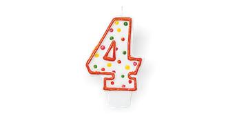 Geburtstagskerzen - 4 - Höhe 7.6 cm