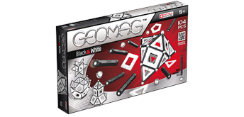 Geomag Kids Panels Black & White 104 Teile